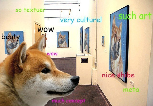 Shibe Enjoys Some Art