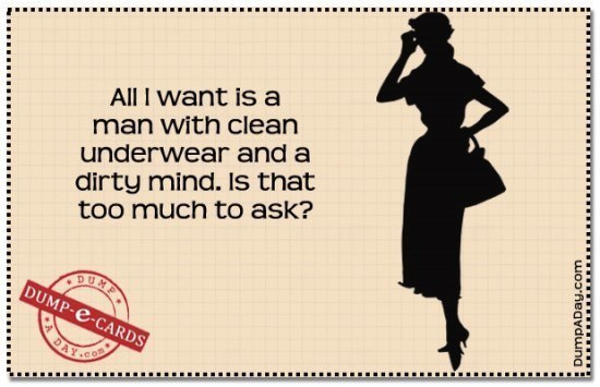 Ecard Dirty Mind Clean Underwear