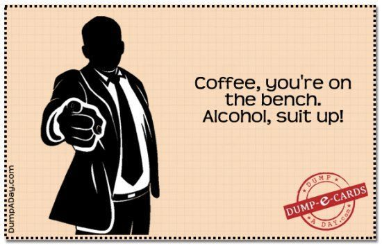 Coffee Is Benched Ecard