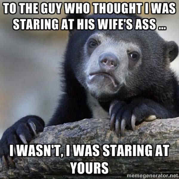 Ass Staring Confession