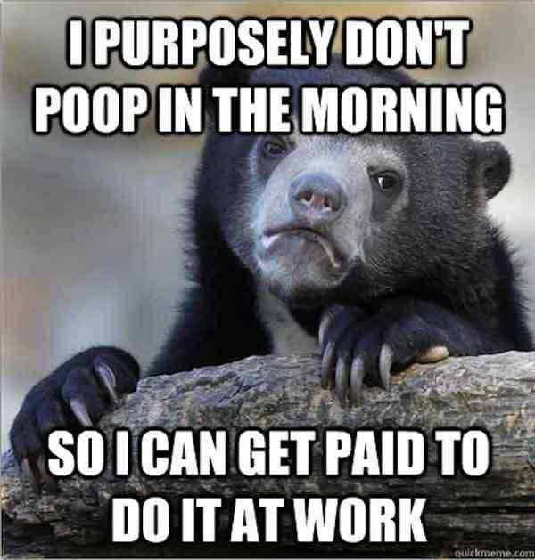 Poo At Work Confession