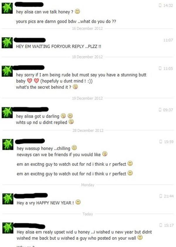 Facebook Flirting Fails