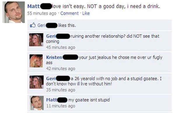 Stupid Goatee Epic Facebook Status