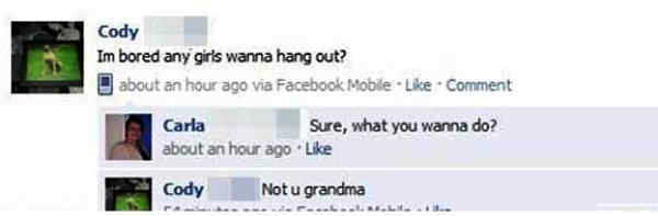 Grandma Facebook Flirting