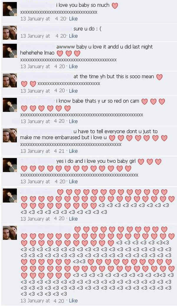 Hearts Facebook Messages