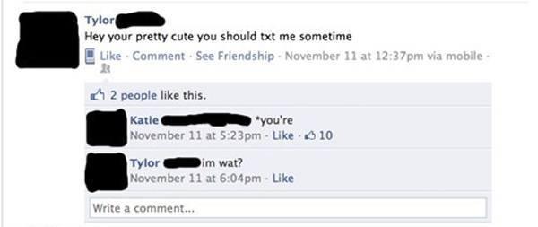 Worst facebook flirter