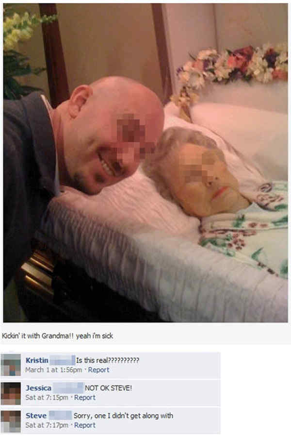 Image of: Funny Memes Grandmas Funeral Facebook Picture Runt Of The Web The Funniest Facebook Photos Ever Seen