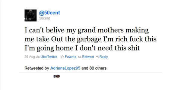 Funniest Tweets 50 Cent On Taking Out The Garbage
