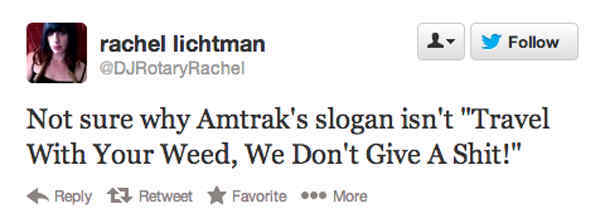 Amtrak's Traveling Slogan