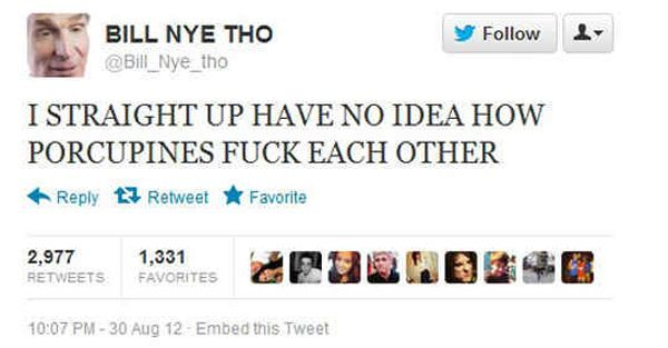 Funniest Tweets Ever Bill Nye