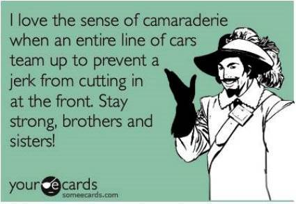Ganging Up On A Bad Driver Ecard