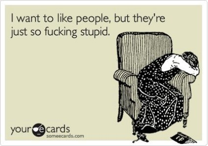 I Want To Like People Ecard