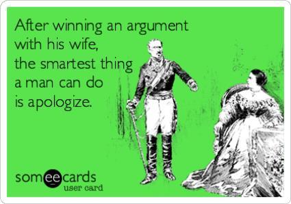 Apologizing After Arguments