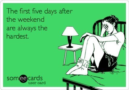 First Five Days Of The Week Ecard