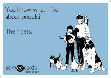 I Like People's Pets Ecard