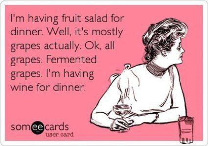 Im Having Wine For Dinner