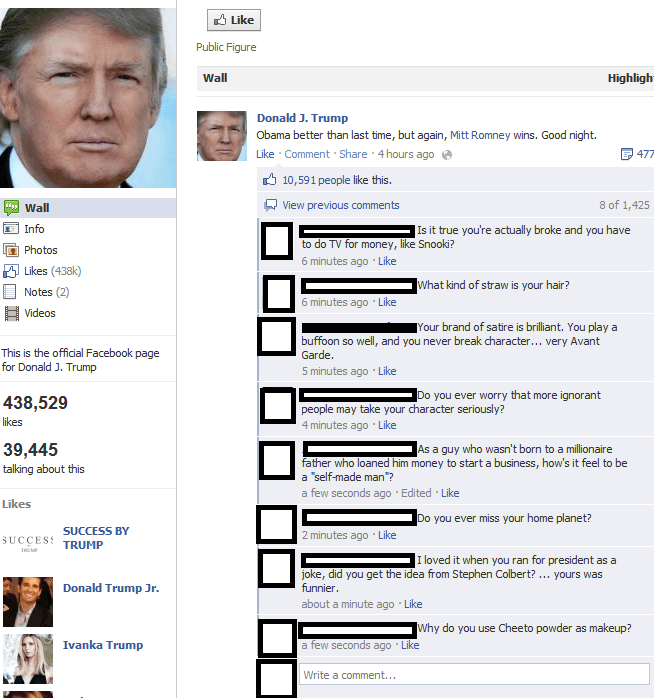 Donald Trump's Facebook Page