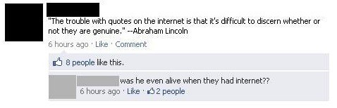 Facebook Comments Abraham Lincoln Quote
