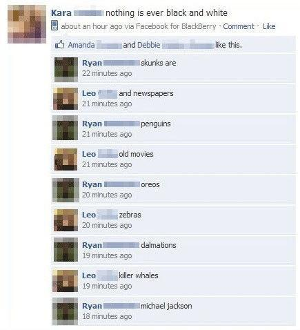 Facebook Comments Black and White