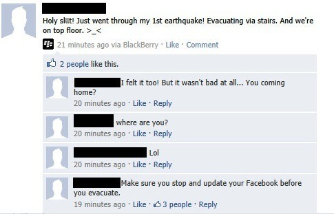 Epic Facebook Comments Evacuation Priorities