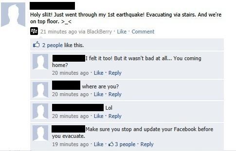 Epic Facebook Comments Evacuation Priorities