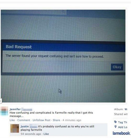 Funny Facebook Comments Farmville