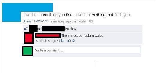 Finding Love Facebook Comments