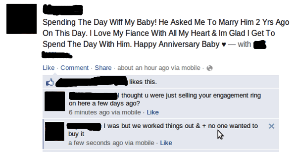 Facebook Comments On Love