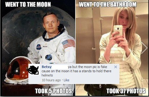 She's Getting To The Bottom Of The Moon Landing