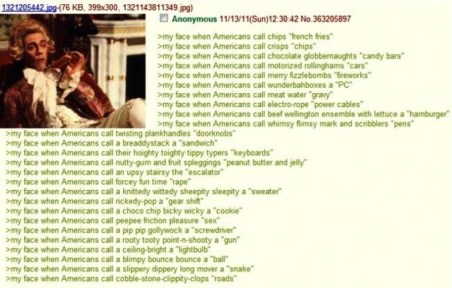 Funniest 4Chan Posts American Slang