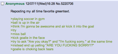 4Chan Threads Epic Soccer Kick