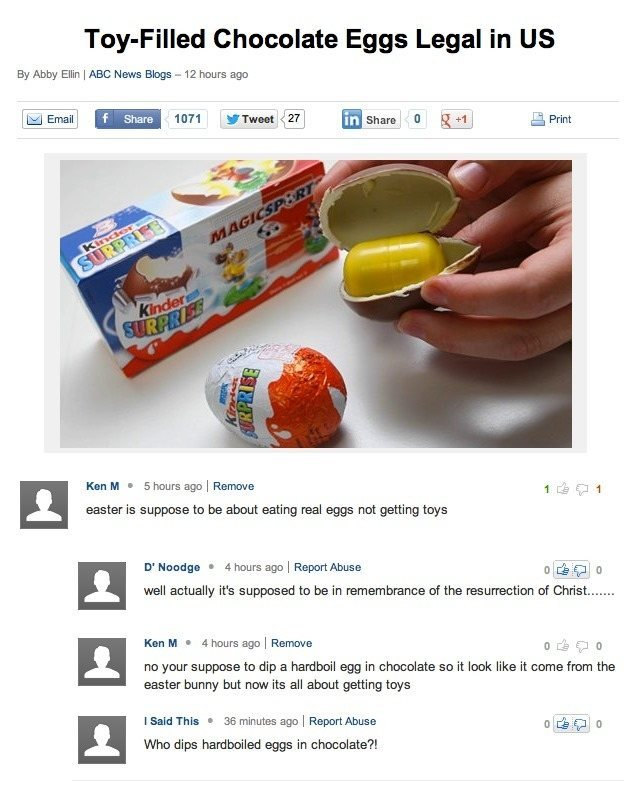 Easter Internet Comments Troll