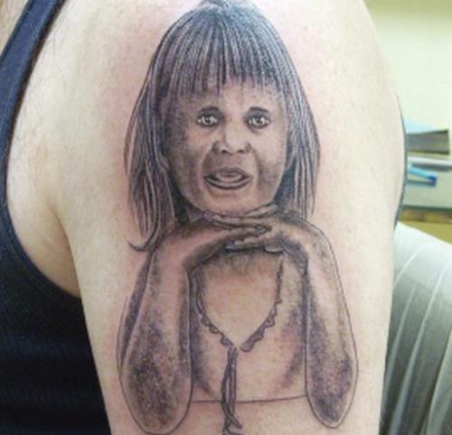 Child Portrait Tattoo Fail