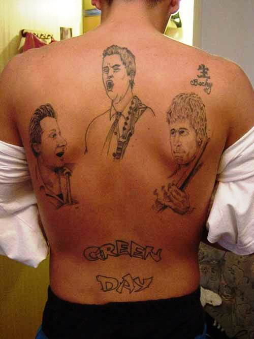 Green Day Tattoo Fail