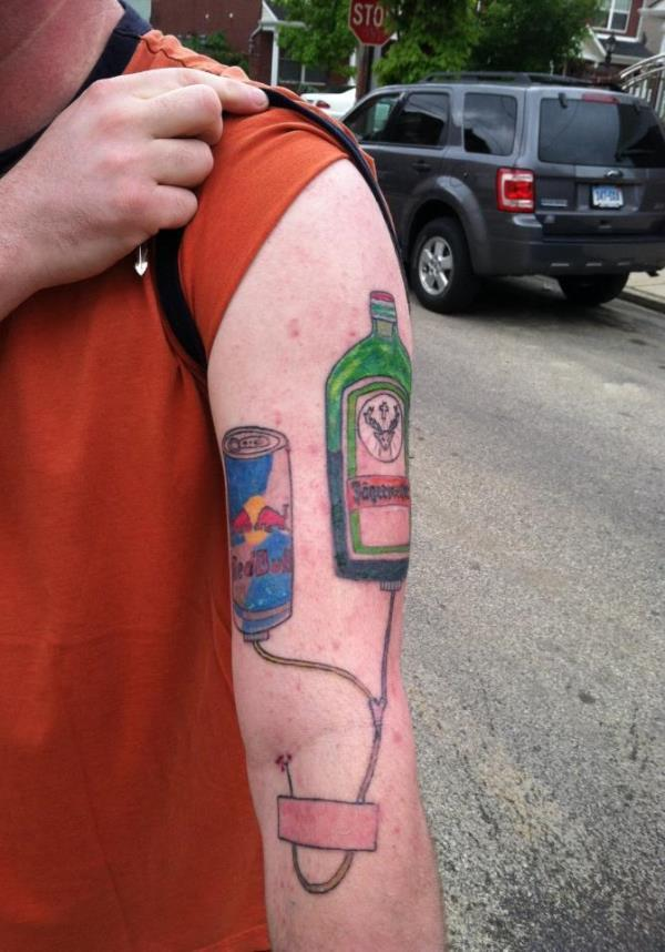 Jagerbomb Awful Tattoo