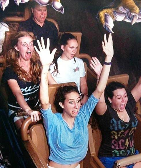 Funny Face On A Roller Coaster
