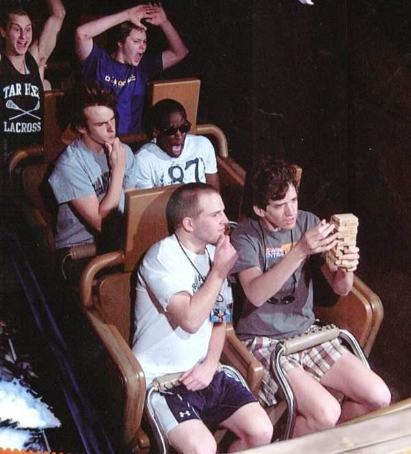 Funniest Roller Coaster Photo Playing Jinga