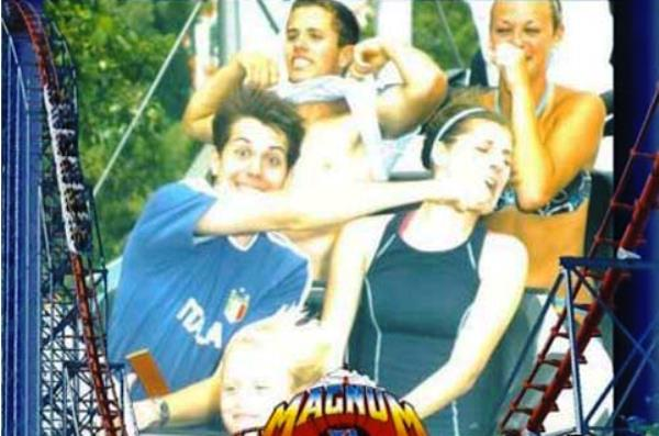 Funny Roller Coaster Photo Punch