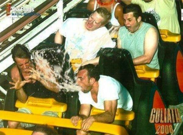 Spewing On A Roller Coaster