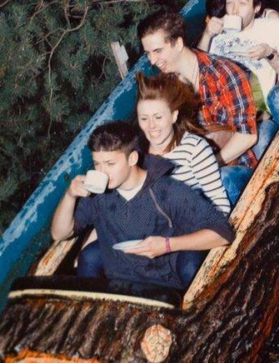 Tea Time Funny Roller Coaster Picture