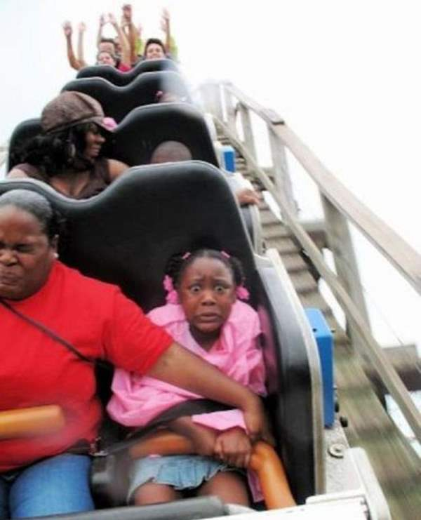 Funniest Roller Coaster Pictures Terrified