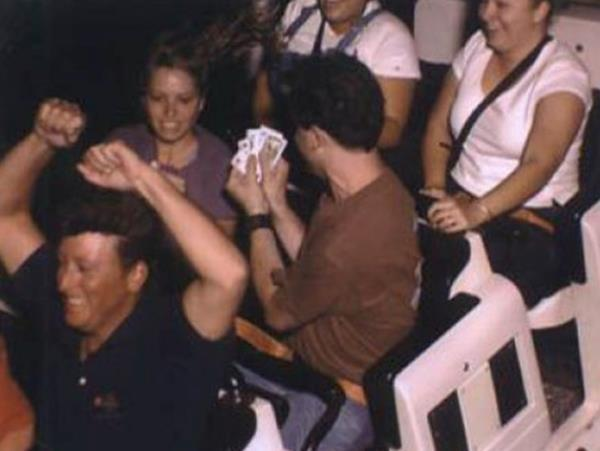 Playing Cards On A Roller Coaster