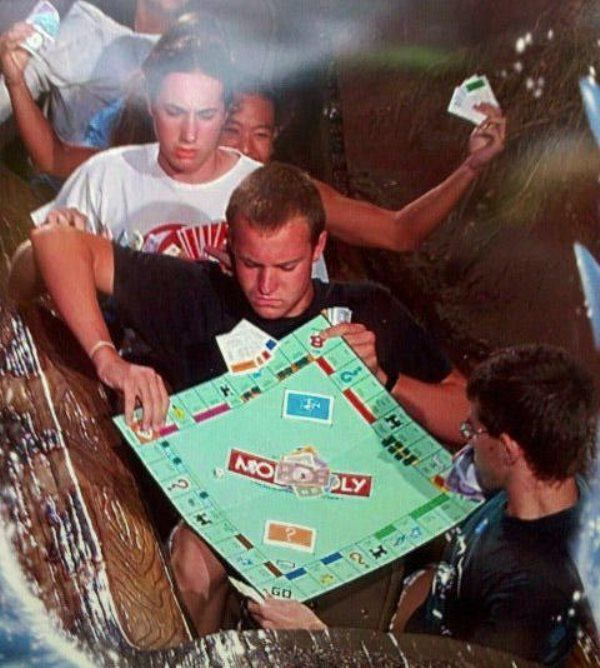 Monopoly Funny Roller Coaster Picture