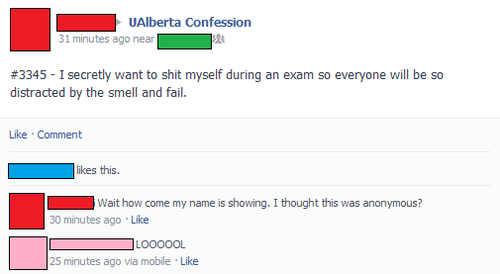 Facebook Posts Anonymous Confession