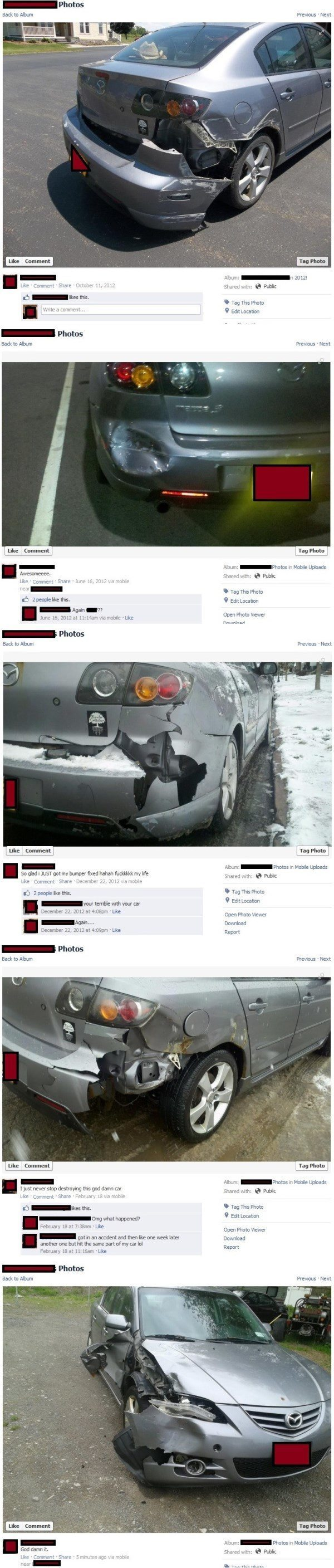 Facebook Pictures Bad Driver