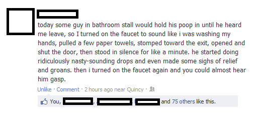 Funny Facebook Post On Bathroom