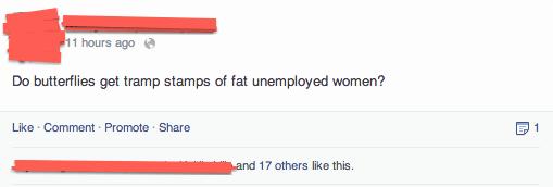 Funny Facebook Posts Tramp Stamps