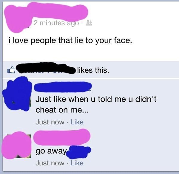 Caught Lying On Facebook
