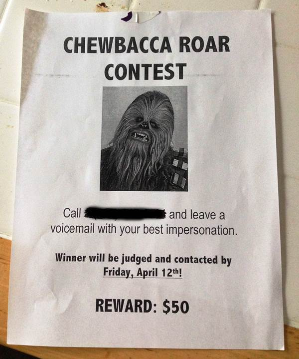 Hilariou Sign Chewbacca