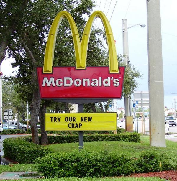 Funny McDonalds Sign